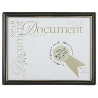 "China 8.5 x <strong style=""color:#b82220"">11</strong> <strong style=""color:#b82220"">Document</strong> <strong style=""color:#b82220"">Frame</strong> for Wall Mount, Plastic - Black with Gold Trim wholesale"