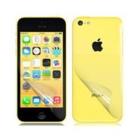 China High Definition Transparent Front & Back Skin Stickers for iPhone 5C wholesale