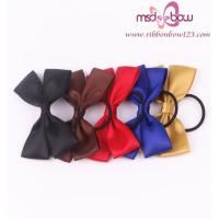 China PRE-TIED SATIN RIBBON DOUBLE BOWS WITH ELASTIC on sale