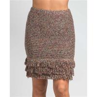 China 9607-Fringe Detail Knit Sweater Skirt wholesale