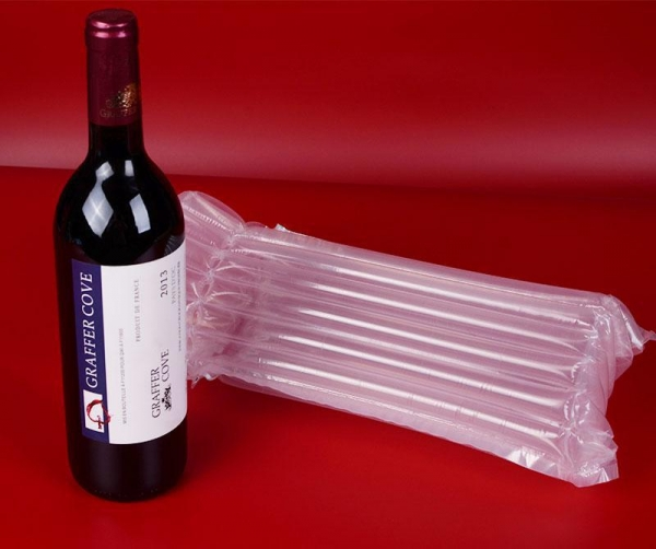 China Red Wine Pouch Air Column Bag