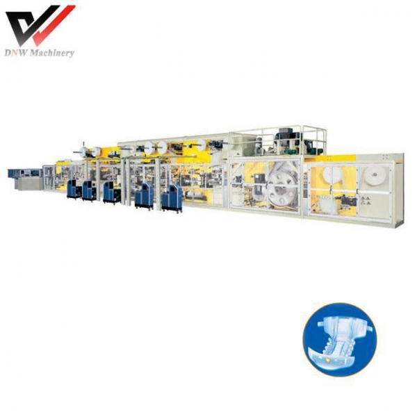 China Full Frequency I Shape Baby Diaper Production Line