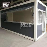 Quality Wellcamp mobile container shop using by flat pack container homes simple sandwich panel for sale