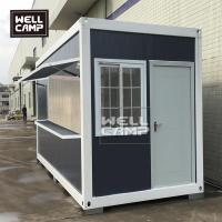 China Wellcamp flat pack container coffee shop economical prefab food storage container wholesale