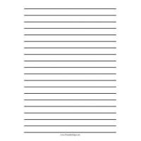 China Lined Paper Printable Low Vision Writing Paper - Half Inch - A4 on sale