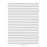 China Lined Paper Printable Low Vision Writing Paper - Quarter Inch - A4 on sale