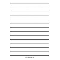 China Lined Paper Printable Low Vision Writing Paper - Three Quarter Inch - A4 on sale