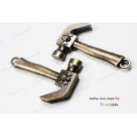 China 3pcs Antique Bronze Axe Hook Clasps with Skull, Axe End Bar Hook on sale
