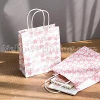 China Kraft Paper Bag With White Paper Twisted Handle on sale