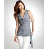 China Tops & Tees Striped cowl neck top wholesale