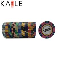 China toy series Cheap Real Clay Number Stickers for Poker Chips wholesale