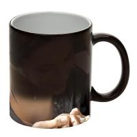 China Black Finish Color Changing Coffee Magic Mug For Personalized Sublimation Transfer on sale