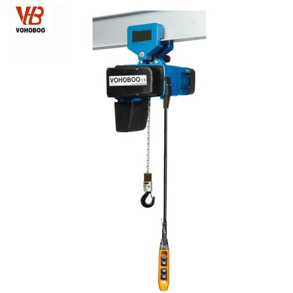 Quality European Type Electric Chain Hoist With Maual Trolley for sale