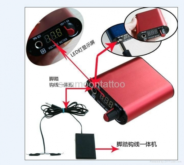Quality tattoo power supply with foot switch ntp041 for sale