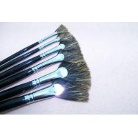 China Pure chinese boar bristle brush fan paint brushes on sale