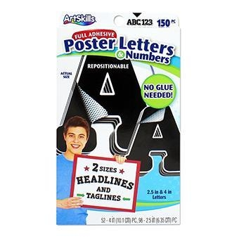 China Black Combo Pack Poster Letters
