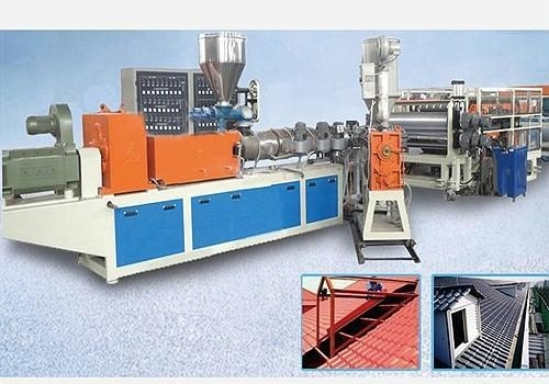 Quality PVC/PC/ASA/PMMA Synthetic Resin Clay Tile Extrusion Line for sale