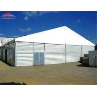 China Anti - UV Radiation Industrial Storage Tents With Galvanized Steel Insert Connectors wholesale