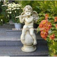 China Garden Series SF28712A- Musical Garden Resin Large Angel Statue on sale