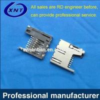 Buy cheap TF card holder / microSD push inner strip detection (normally closed) (H=1.8mm) from wholesalers