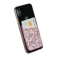 China Glitter Leather Phone Card Secure Holder wholesale