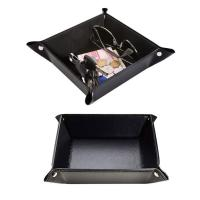China Handmade leather valet tray with snaps wholesale