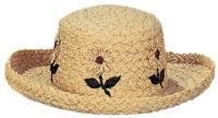 Quality 1236 - Packable Ladies' Raffia Straw Hat for sale