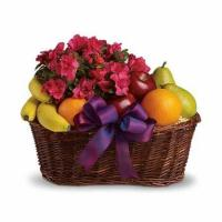 China Blooms and Fruit Gift Basket wholesale