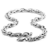 China Men chain link necklace wheat Mens Stainless Steel on sale