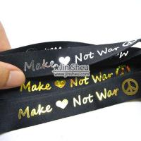 Buy cheap Lanyard with Laser Logo Foil Stamping from wholesalers