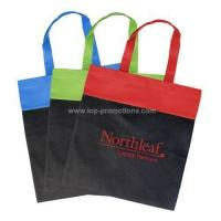China Non Woven Two-Tone Budget Tote Royal/ Black wholesale