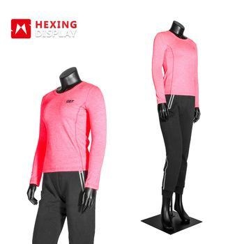 Quality Flexible Full Body Sports FRP Material Standing Female Mannequin for sale