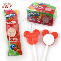 China 2 In 1 Strawberry Candy Lollipopx wholesale
