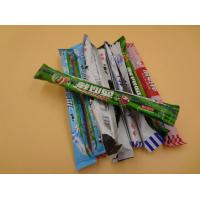 China Big Long Colorful Sweet Chewy Milk Candy Mixing Fruit / Chocolate No Carb wholesale