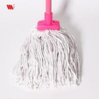 China Wholesale 2063-SST square head Cleaning pure cotton thread Mop with steel stick wholesale