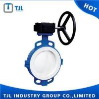 China Wafer Type Butterfly Valve Dimensions PTFE Seated DN100 on sale