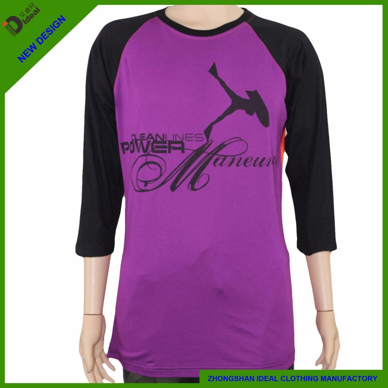 Buy cheap T-shirt 3 /4 Sleeve Cotton T Shirts from wholesalers